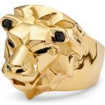 Bague dorée à tête de lion Mack