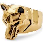 Bague dorée Le loup Mack