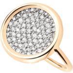 Bague Ginette NY Disc en or rose et diamants Femme