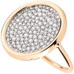 Bague Ginette NY Disc large en or rose et diamants Femme