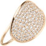 Bague Ginette NY Sequin & Galaxy Diamond en or rose et diamants Femme