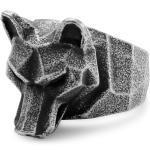 Bague grise à tête de loup Mack