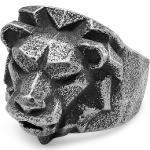 Bague Makt grise Le lion