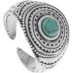 Bague motifs ethniques et pierre (turquoise) - Shabada