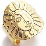 Bague Sol Ajustable, Plaquée Or 24 Carats 3 Microns, Création Originale Marine Mistake, Soleil