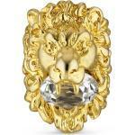 Bagues Gucci dorées finition brillante à motif lions pour femme