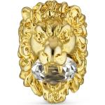 Bague tête de lion avec cristal