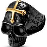 Bague tête de mort noire