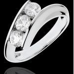 Bague Trilogie Nid Précieux - Féminité - or blanc 18 carats - 1 carat