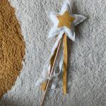 Baguette Magique De Linge // Étoiles Vanille Baguette D'Étoiles Moutarde Collier Fanion Guirlande Pour Des Enfants Collection Sole E Luna