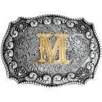 Bai You Mei Homme Classique Dorée Accessoires Boucles de ceinture Western Cowboy Fait Main Initiale Lettres Boucles de ceinture