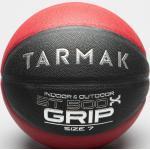 Ballon de Basket Adulte BT500 Grip Taille 7 - Noir/Rouge - TARMAK - SANS TAILLE