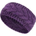 Bandeau d'Hiver Bandeau en Laine Torsadée Cache-Oreilles Cache-Cheveux pour Femme (Violet)