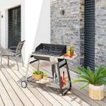 Barbecue à charbon Azur pro Jardin L. 120 cm - Acier