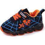 Chaussures bleues Spiderman lumineuses look fashion pour enfant