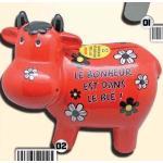 Bazooka Tirelire Geante Vache 26x23x20cm Le Bonheur Est Dans Le Ble¿