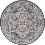 benuta CLASSIC Tapis rond Sinan Beige/Bleu diamètre 160 cm rond
