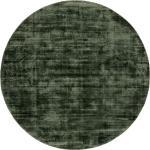 benuta ESSENTIALS Tapis en viscose Rond Nova Vert diamètre 160 cm rond