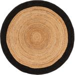 benuta NATURALS Tapis de jute Jutta Marron clair/Noir diamètre 120 cm rond