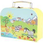 BIECO Valise Enfants Valise de gouté animaux de la campagne - 3 ans et plus - 15 x 20 x 8.5 cm - Jaune (Gelb)