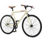 BIKESTAR Vélo de Route VTC 28 Pouces CTB   Vélo Urbain Fixie Single Speed Cadre 53 cm   Beige
