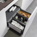 Blanco Select II Poubelle de tri sélectif, avec 1 couvercle de poubelle, pour meuble bas 60 cm, 526204