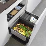 Blanco Select II Poubelle de tri sélectif, avec 1 couvercle de poubelle, pour meuble bas 60 cm, 526210