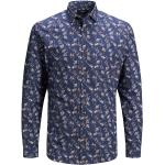Chemises Jack & Jones bleues à motif fleurs enfant look fashion