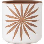Bloomingville - Idris Pot de fleurs, blanc / brun