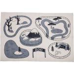 Bloomingville - Tapis d'aire de jeux zoo, beige/gris
