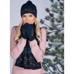 Bonnet, Écharpe ou Gants en tricot alpaga, Écharpe - Bleu/multicolore