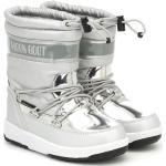 Chaussures d'hiver Moon Boot argentées à motif de l'espace pour femme