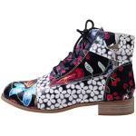Chaussures noires à paillettes à motif fleurs à lacets look sexy pour femme