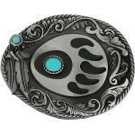 Boucle De Ceinture En Turquoise Modèle Patte Animal Inde Cowboy Boucle De Ceinture