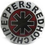 Boucle De Ceinture Groupe Red Hot Chili Peppers Ronde Alu Rouge