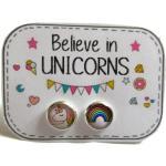 Boucles D'oreille Enfants, Licorne, Multicolore, Boucles Bijoux Arc En Ciel, Enfant, Cadeau Anniversaire
