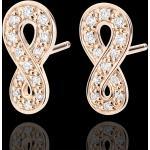 Boucles d'oreilles Infini - or rose 9 carats et diamants