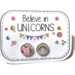 Boucles D'oreilles Licornes, Puces Multicolore, Paillettes Dorées, Bijoux Licornes, Cadeau Licorne , Féerique