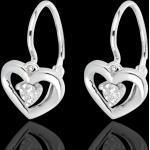 Boucles d'oreilles mon amour or blanc 9 carats et diamants