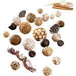 Boules décoratives naturelles 25 pièces