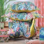 Boutis 240x260 Avec 2 Taies Et Sac Plumeria Multicolore