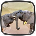 Bouton de Tiroir Éléphant africain Boutons de Meuble Enfant Lot de 4 Boutons de Porte Fait main Tiroir et Armoire 3x2.1x2 cm