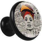 Boutons De Meubles Femme africaine Poignées Pour Placards,Tiroirs,Commode,Porte,Cuisine,Salle De Bains,Chambre D'Enfant 3.2x3x1.6cm