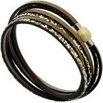 Bracelet 3 tours Boréal cuir (kaki) - La Fleur de Peau