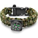 Bracelet Boussole Corde Para Camouflage
