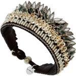 Bracelet brodé Fabia (green/silver) - Nahua