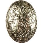 Broche Viking Clarmine Argent Métal Ou Jaune Doré . Insigne Médiéval De Bijoux Larp | Fr Hemad Garb