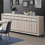 Buffet 225 cm couleur bois naturel EURYDICE