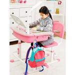 Bureau Ergonomique Avec Une Chaise et Lampe Pour Enfants Réglage En Hauteur Couleur Rose