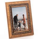 Cadre Photo en Bois Style Baroque pour Photos 10x15 cm - Cadre Doré en Verre pour De Beaux Souvenirs   Cadre Photo Autoportant pour Affichage Mural & de Table, Format Vertical & Horizontal